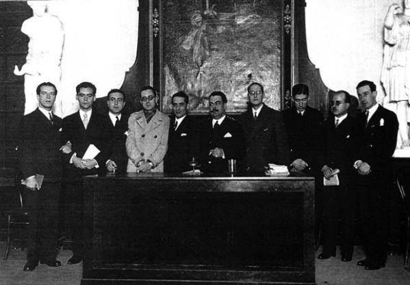 Lorca y Alberti en el Ateneo de Sevilla en 1927