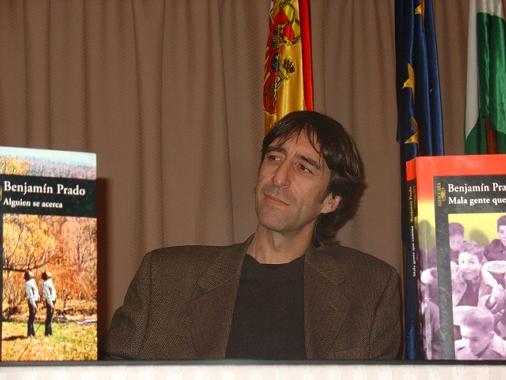 Benjamín Prado, en el IES Blas Infante de Córdoba (Foto: Ana Cabello)