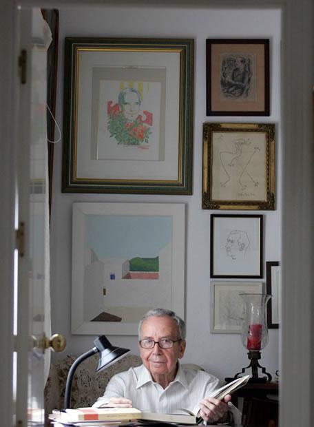 El poeta Pablo García Baena (Foto:F.J. Vargas)